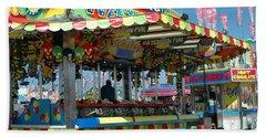 Summer Carnival Festival Fun Fair Shooting Gallery - Carnival State Fair Stands Beach Towel