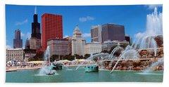 Summer, Chicago, Illinois, Usa Beach Towel
