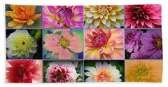 Summer Time Dahlias Beach Sheet by Dora Sofia Caputo Photographic Art and Design