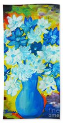 Summer Daisies Beach Sheet by Ramona Matei