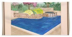 Beach Towel featuring the painting Summer Days by Ron Davidson