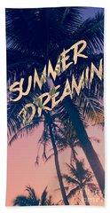 Summer Dreamin Tropical Island Palm Trees Sunrise Beach Sheet