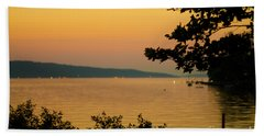 Summer Evening On Cayuga Lake Beach Towel