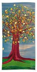 Summer Fantasy Tree Beach Sheet by First Star Art