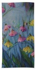 Summer Flower Garden Beach Towel