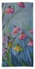 Summer Flower Garden Beach Towel by Mary Wolf