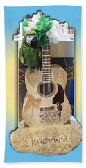Summer Guitar Beach Sheet by Barbara McDevitt