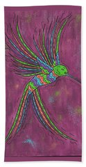 Beach Towel featuring the painting Summer Hummer by Susie WEBER