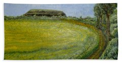 Summer In Canola Field Beach Towel