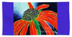 Beach Towel featuring the painting Summer Kissed Cone Flower by Jackie Carpenter