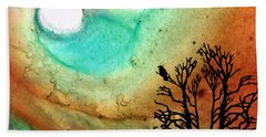 Summer Moon - Landscape Art By Sharon Cummings Beach Sheet by Sharon Cummings