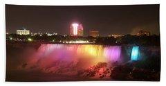 Summer Night In Niagara Falls Beach Towel by Lingfai Leung