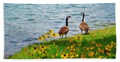Summer On The Lake Beach Towel by Kenny Francis