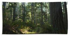 Summer Pacific Northwest Forest Beach Towel