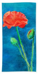 Summer Poppy Beach Sheet