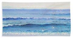 Summer Seascape Beach Sheet by Jan Matson