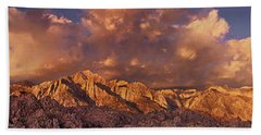 Beach Towel featuring the photograph Summer Storm Clouds Over The Eastern Sierras California by Dave Welling