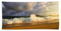 Beach Towel featuring the photograph Summer Storm by Eti Reid