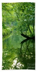 Summer Stream Beach Towel