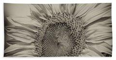 Beach Towel featuring the photograph Summer Sunflower by Wilma  Birdwell
