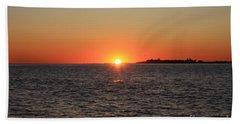 Beach Sheet featuring the photograph Summer Sunset by John Telfer
