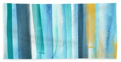 Summer Surf- Abstract Painting Beach Towel by Linda Woods