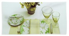Summer Table Setting Beach Towel