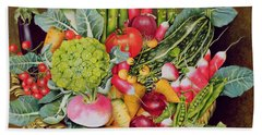 Summer Vegetables Beach Towel by EB Watts