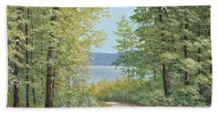 Summer Woods Beach Towel