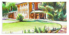 Summertime At Ursuline No C101 Beach Towel