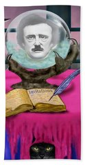Summoning Edgar Allan Poe Beach Sheet by Glenn Holbrook