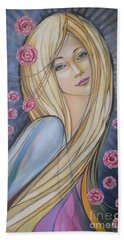 Sun And Roses 081008 Beach Towel by Selena Boron
