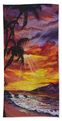 Beach Towel featuring the painting Sun Burst by Darice Machel McGuire