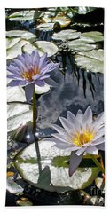 Sun-drenched Lily Pond         Beach Towel