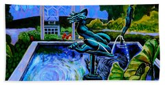 Sun Glitter Mermaid At Missouri Botanical Garden Beach Towel