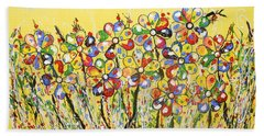 Sun-kissed Flower Garden Beach Towel