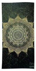 Sun Mandala - Background Variation Beach Towel by Klara Acel