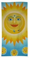 Sun-moon-stars Beach Towel