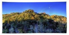 Sun On Autumn Trees Beach Towel by Jonny D