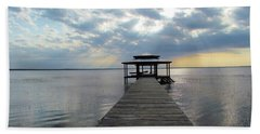 Sun Rays On The Lake Beach Towel by Cynthia Guinn