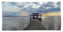 Beach Sheet featuring the photograph Sun Rays On The Lake by Cynthia Guinn