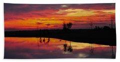 Sun Set At Cowen Creek Beach Sheet