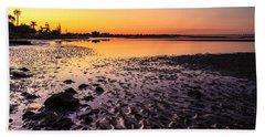 Sun Sets On Bramble Bay Beach Towel