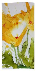 Sun Splashed Poppies Beach Towel