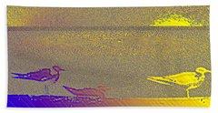 Beach Towel featuring the photograph Sunbird by Ecinja Art Works