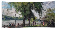 Sunday At Lewiston Waterfront Park Beach Towel
