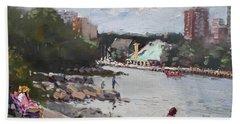 Sunday At Port Credit Park Mississauga Beach Towel