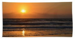 Beach Sheet featuring the photograph Sundays Golden Sunrise by DigiArt Diaries by Vicky B Fuller