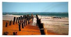 Sundown At The Breakwater Beach Towel