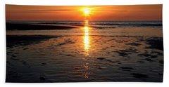 Sundown At The North Sea Beach Towel